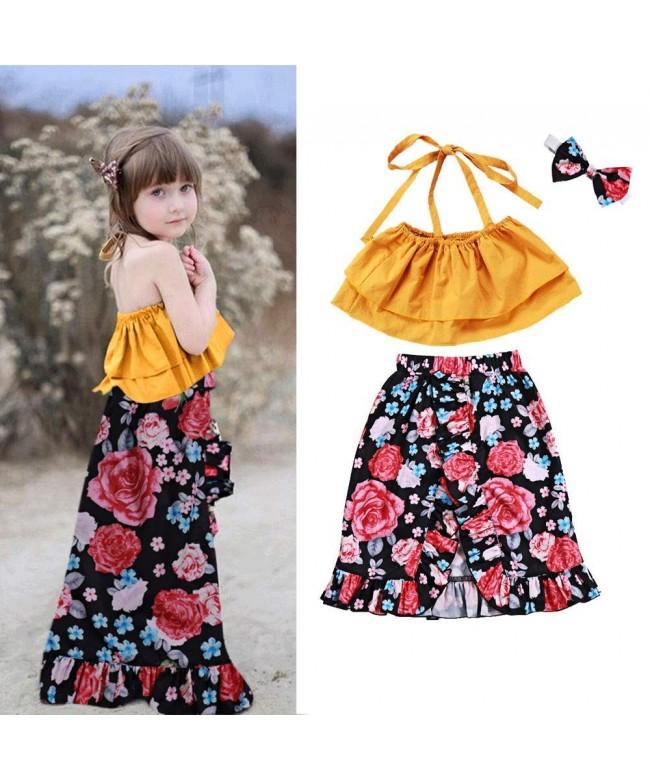 Todder Little Shoulder Striped Dresses