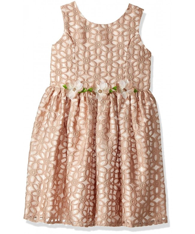 Jayne Copeland Little Burnout Flowers Dress