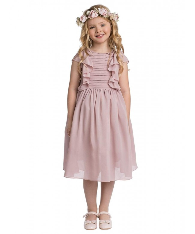 Paisley London Girls Pleated Flower