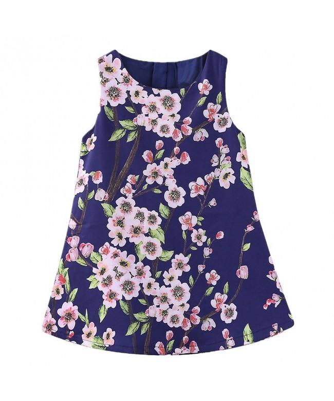 LittleSpring Little Girls Flower Printing