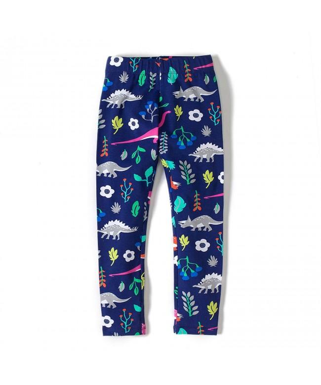 Little Girls Leggings Print Pants