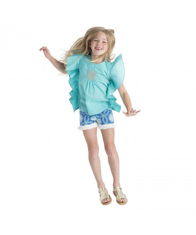Masala Kids Girls Fringe Shorts