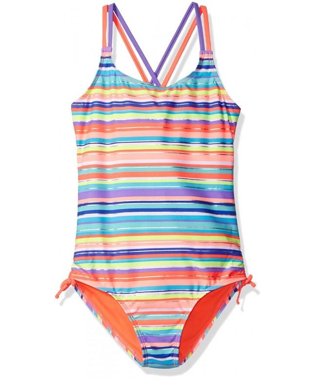 Angel Beach Bright Stripe Swimsuit