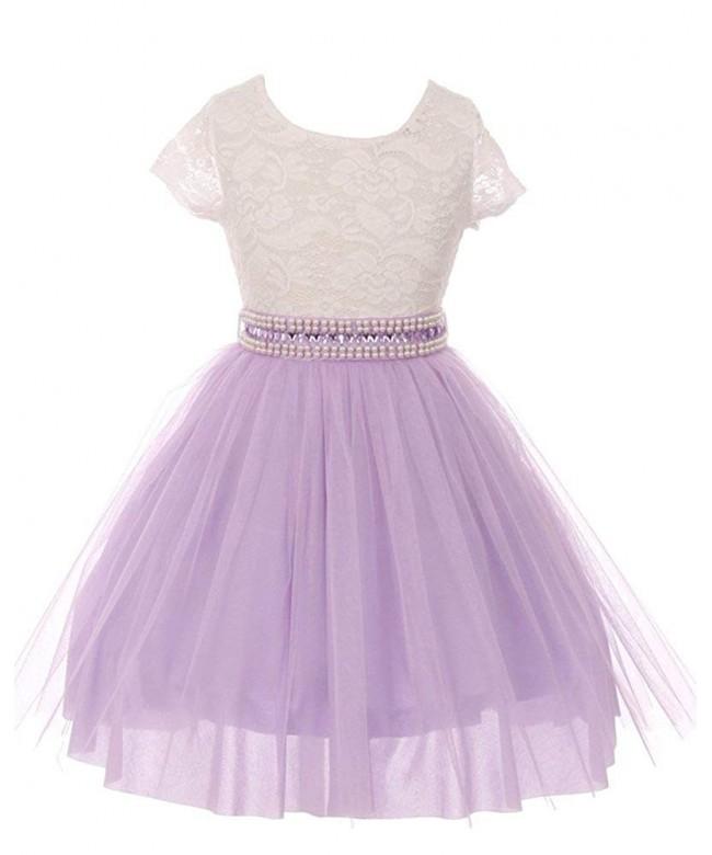 iGirldress Little Sleeves Flower Dresses