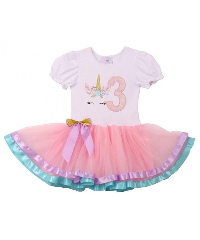 Toddler Sleeve Unicorn Birthday Dresses