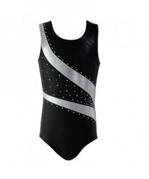 Stripes Metallic Athletic Gymnastics Leotard
