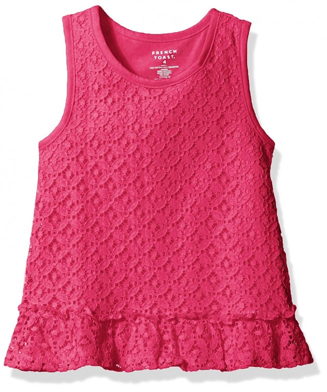French Toast Girls Lace Tank