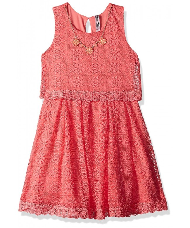 Beautees Girls Lace Skater Dress