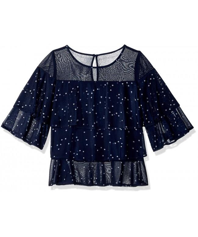 Maddie Girls Ruffle Star Shirt