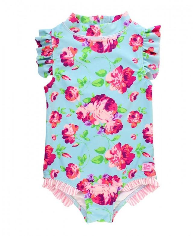 RuffleButts Little Ruffled Swimsuit Vintage