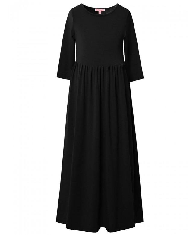 QPANCY Dresses Sleeve Church Pockets