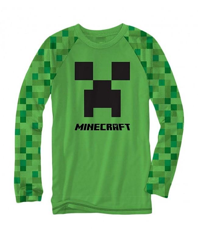 Minecraft Creeper Raglan Sleeve Shirt