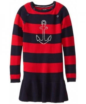 Nautica Girls Anchor Sweater Dress
