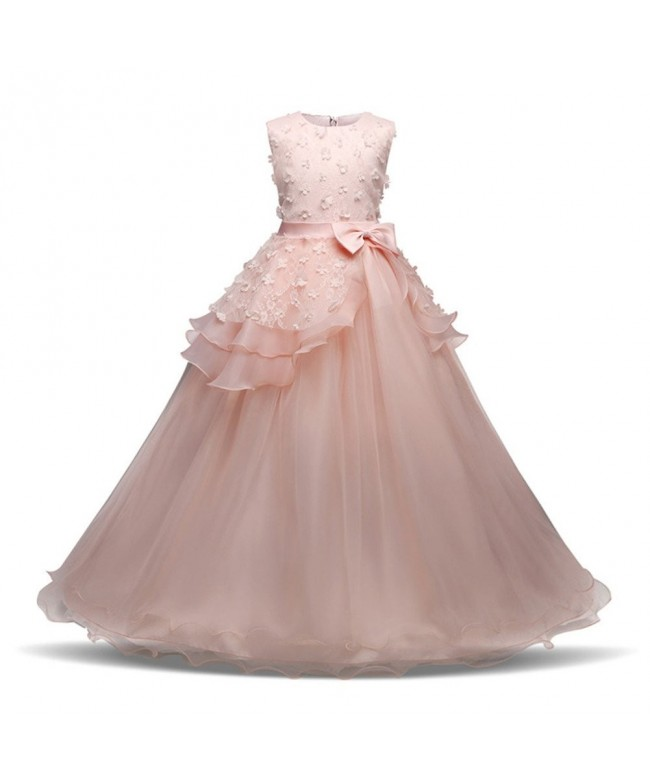 Colorfog Embroidery Princess Wedding Pageant
