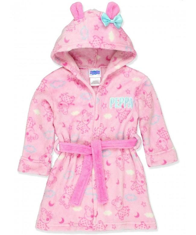 Peppa Toddler Hooded Fleece Bathrobe
