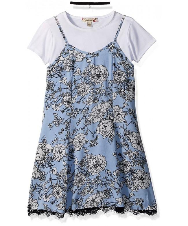 Speechless Girls Floral Dress Choker