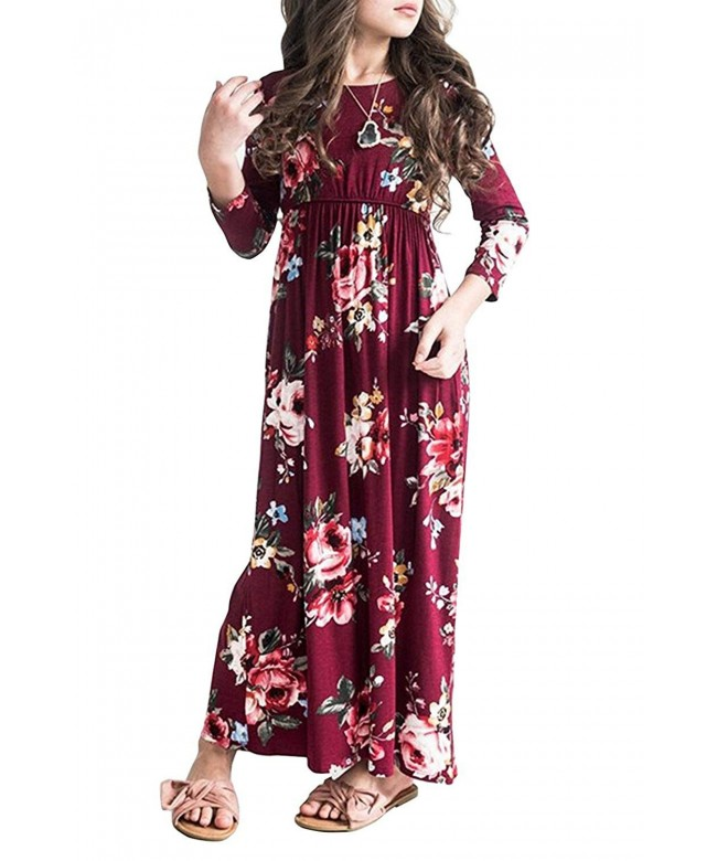 Ofenbuy Dresses Floral Sleeve Empire