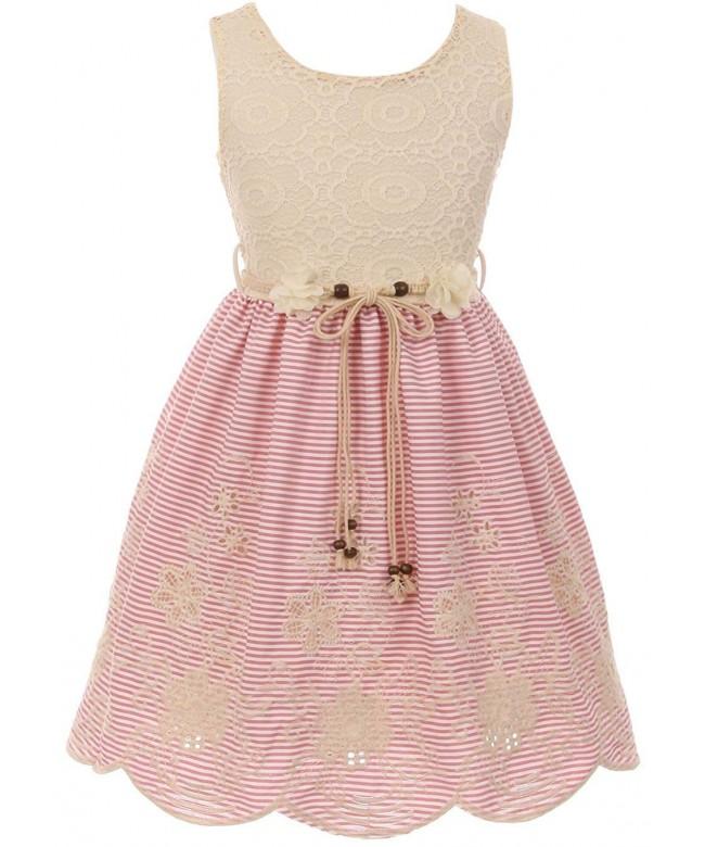 Cotton Embroidery Stripes Bottom Fashionable