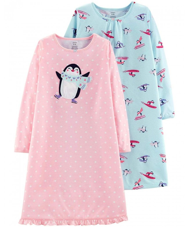 Carters Little 2 Pack Penguin Nightgowns