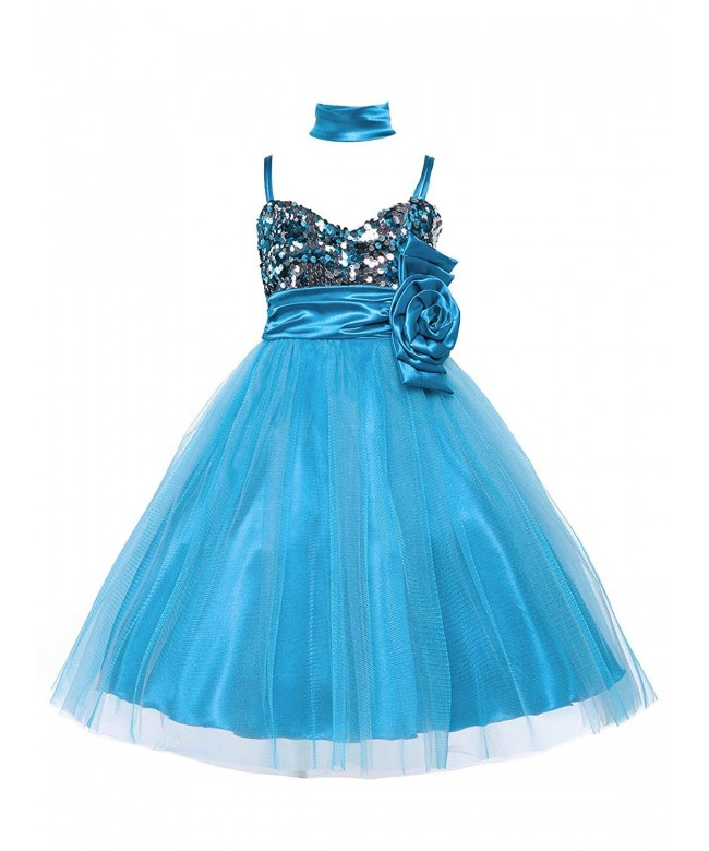 Shimmering Sequined Lovely Pageant Holiday