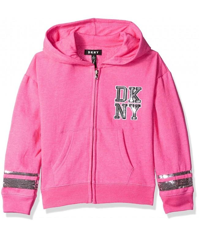 DKNY Varsity Sequin Fleece Hoodie