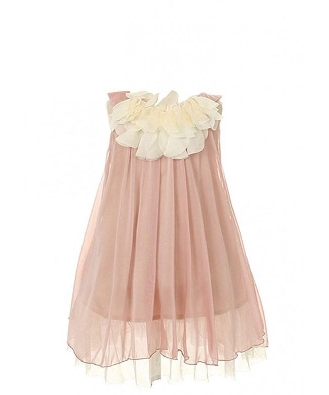 Kids Dream Lovely Chiffon Dress coral 6
