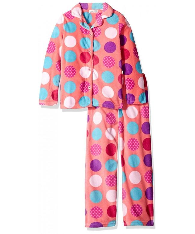 Komar Kids Button Velour Fleece