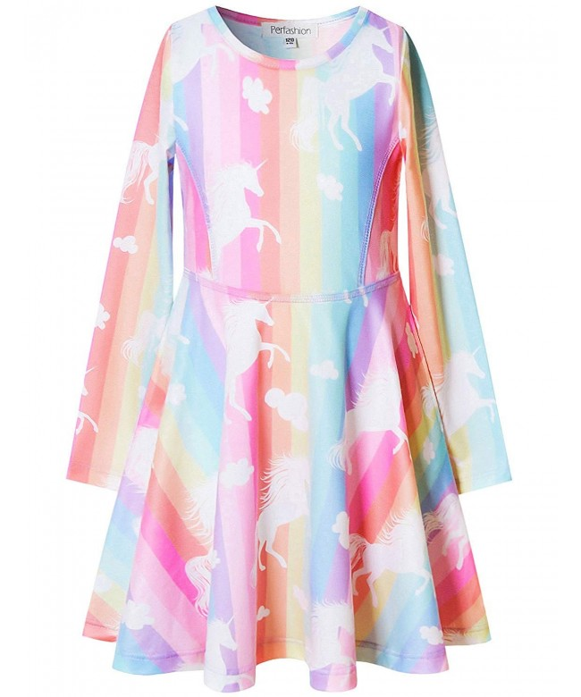 Perfashion Unicorn Rainbow Clothes Dresses