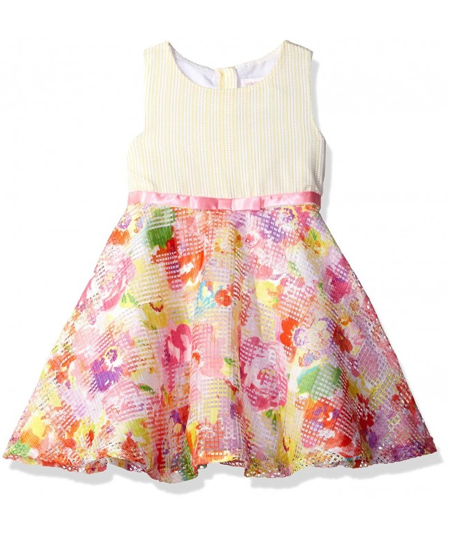 Youngland Little Sleeveless Floral Ribbon