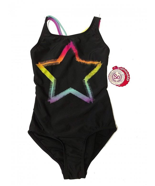 SO Girl Black Piece Swimsuit