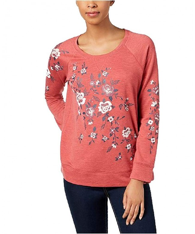 Style Co Petite Floral Print Sweatshirt