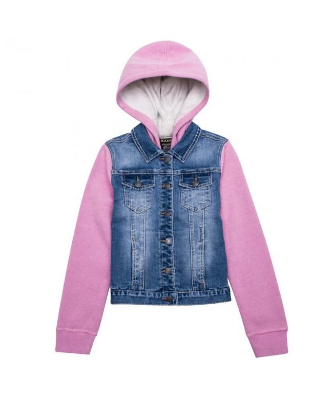 Vigoss Hooded Denim Jacket Girls