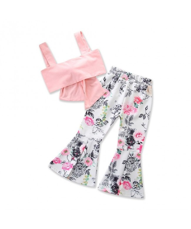 KIDSA Toddler Clothes Bandage Bell Bottom