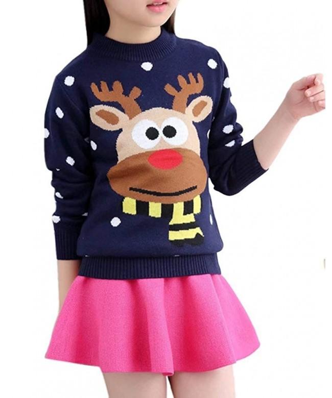 BINPAW Girls Reindeer Sweater Years