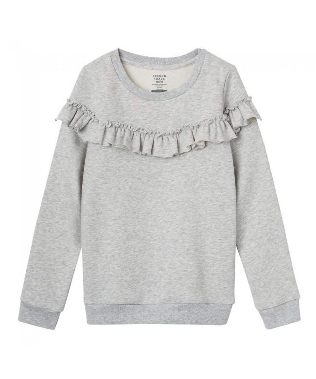 French Toast Sleeve Ruffle Sweatshirt