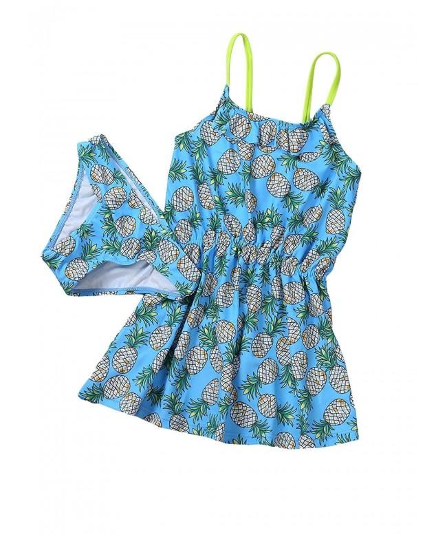 Aleumdr Summer Pattern Neckline Toddler