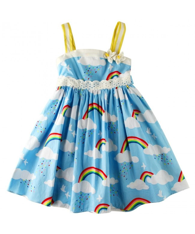 Sharequeen Printing Cotton Bowknot Frocks
