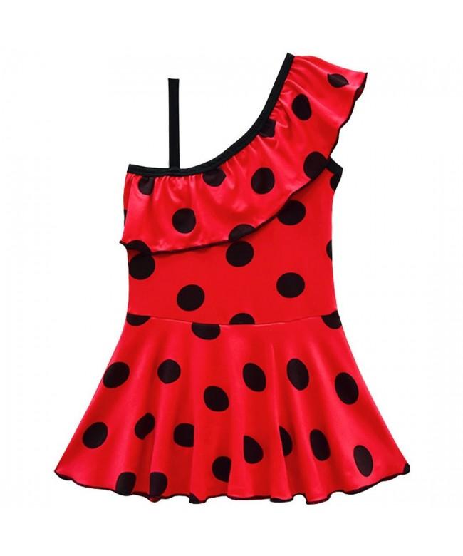 ZHBNN Ladybug Princess one Piece Swimwear