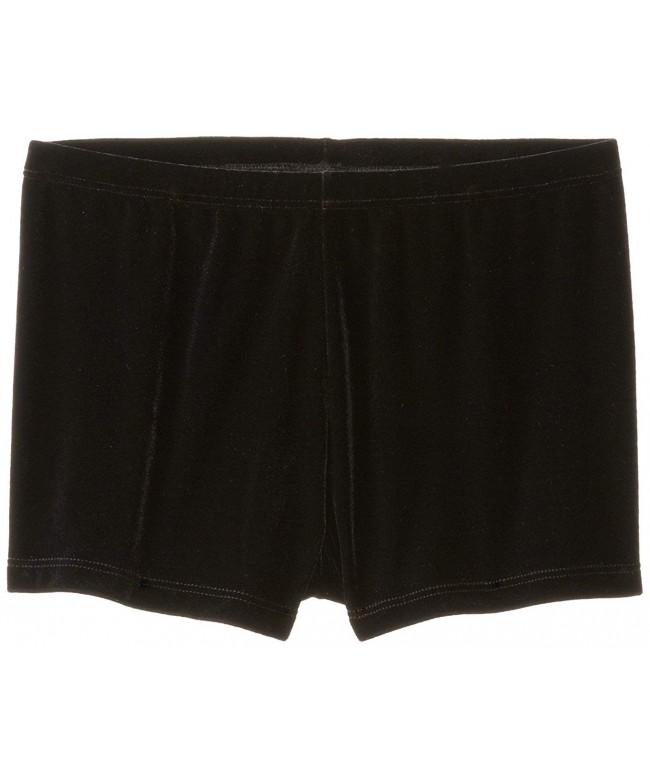 Clementine Girls Velvet Boy Cut Shorts