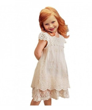 Topmaker White Lace Flower Dress