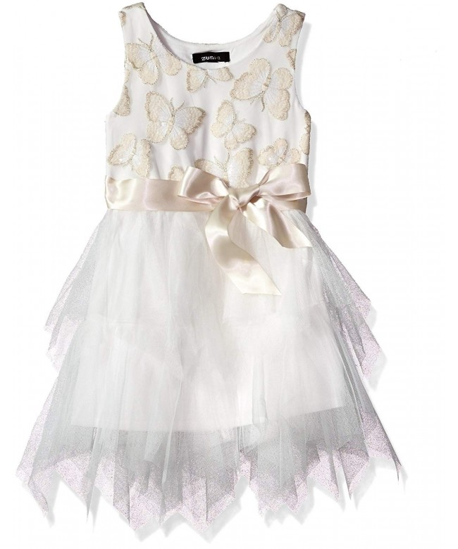 ZUNIE Sleeveless Butterfly Embroidered Bodice