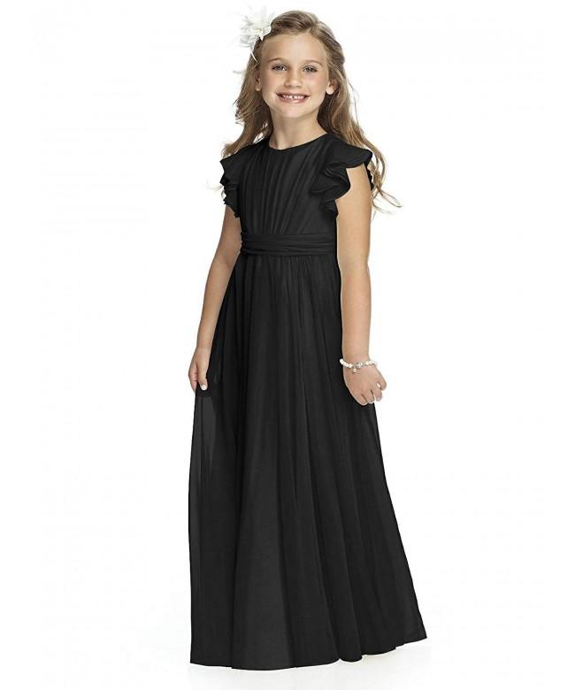 Carat Chiffon Flutter Sleeves Dresses
