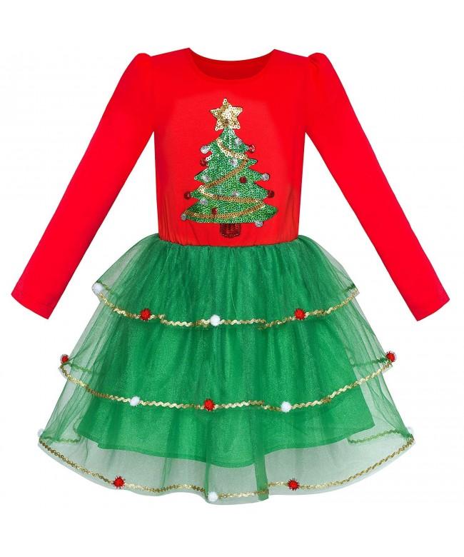 Sunny Fashion Girls Christmas Sleeve