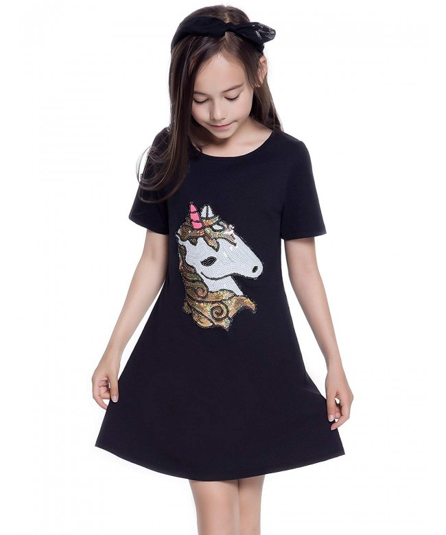 Applique Dresses Unicorn Flamingo T Shirt