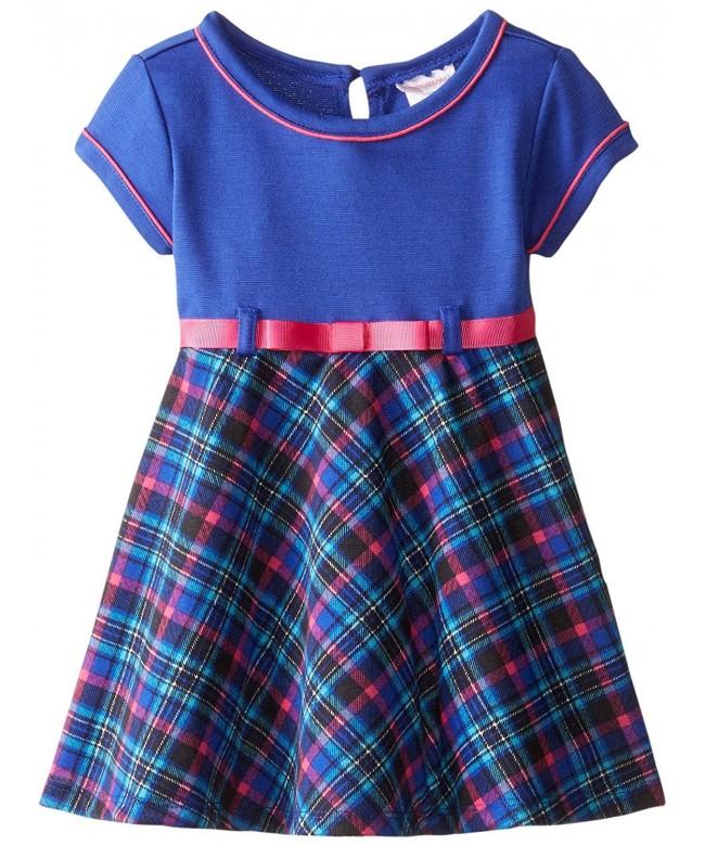 Youngland Girls Ponte Plaid Fashion