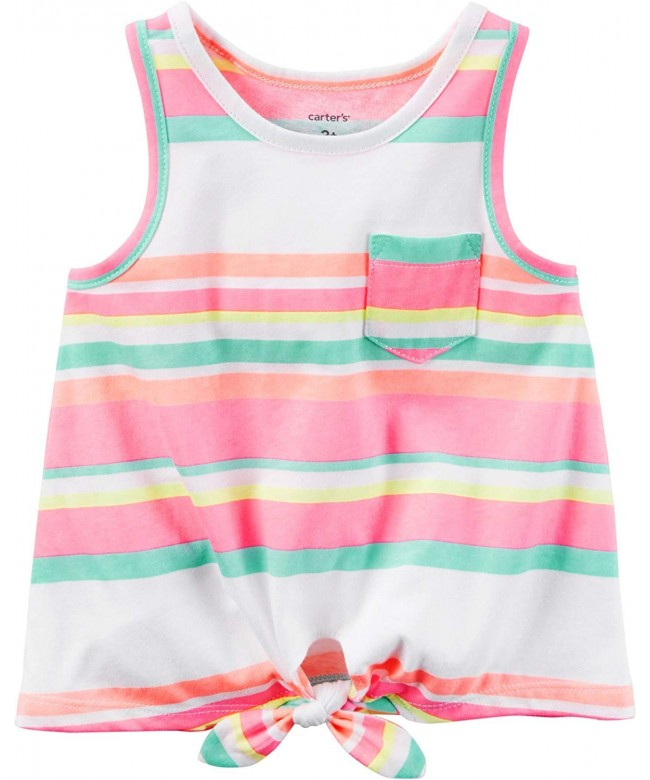 Carters Girls 2T 8 Striped Front