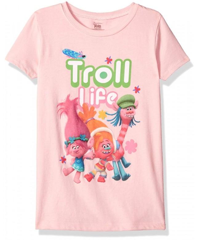 Trolls Girls Little Sleeve T Shirt