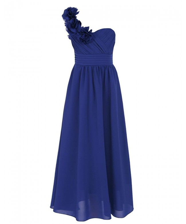 CHICTRY Chiffon Shoulder Bridesmaid Dresses