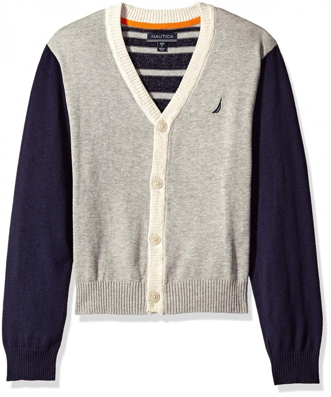 Nautica Colorblock Cardigan Gradient Stripe
