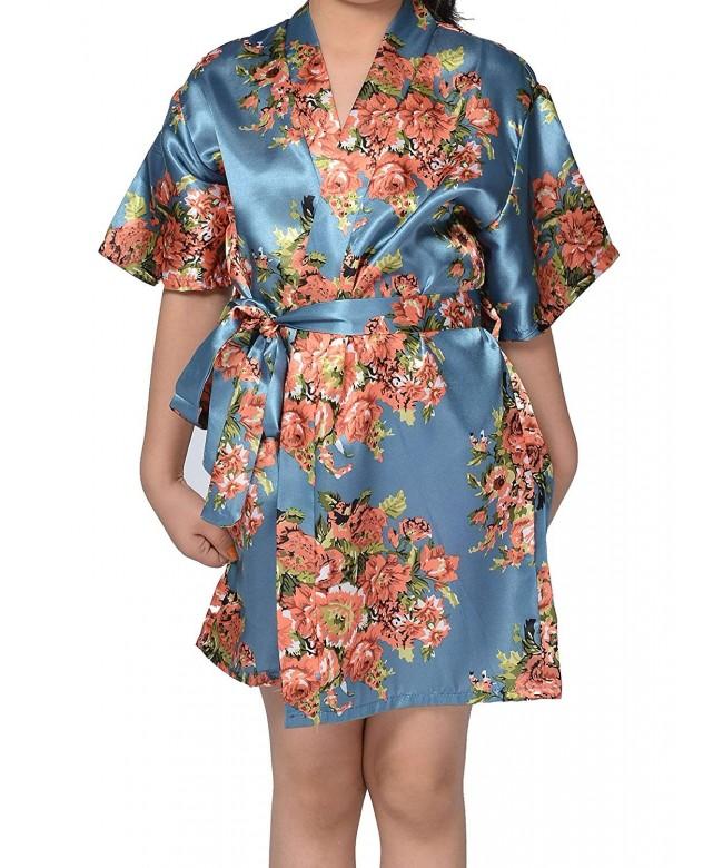 Juntian Floral Sleepwear Bridesmaid Getting